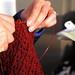 Knitting in Progress at Tynan