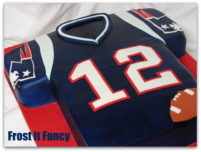Patriot S Jersey Cake Made This For One Of My Bosses Son