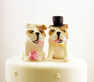 Bulldog Cake Topper