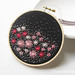 Hand Embroidered Flower Bed Hoop Art - No.2