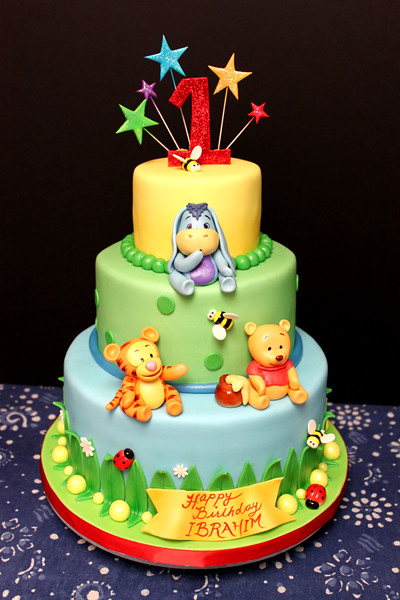 Baby Winnie The Pooh 3 Tiered Baby Winnie The Pooh And