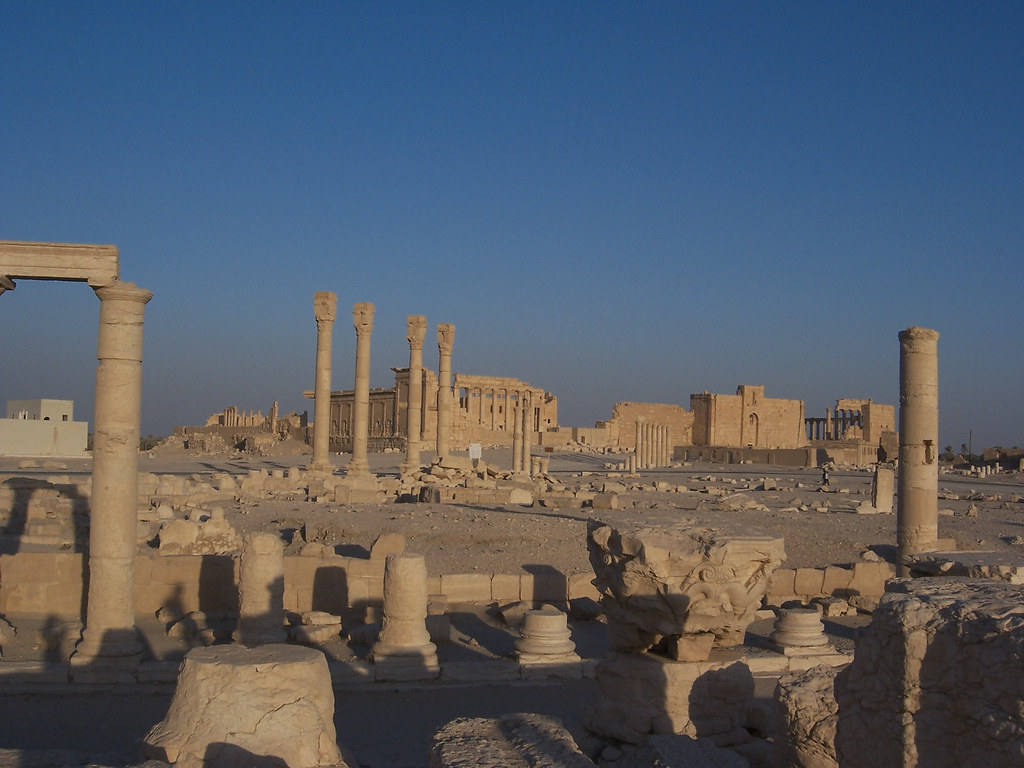 Landscape View of Colonnaded Path and Temples at Palmyra, … Flickr