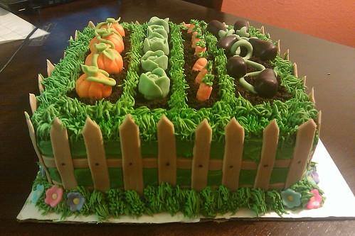Garden Themed Birthday Cakes Garden Birthday Cake | by