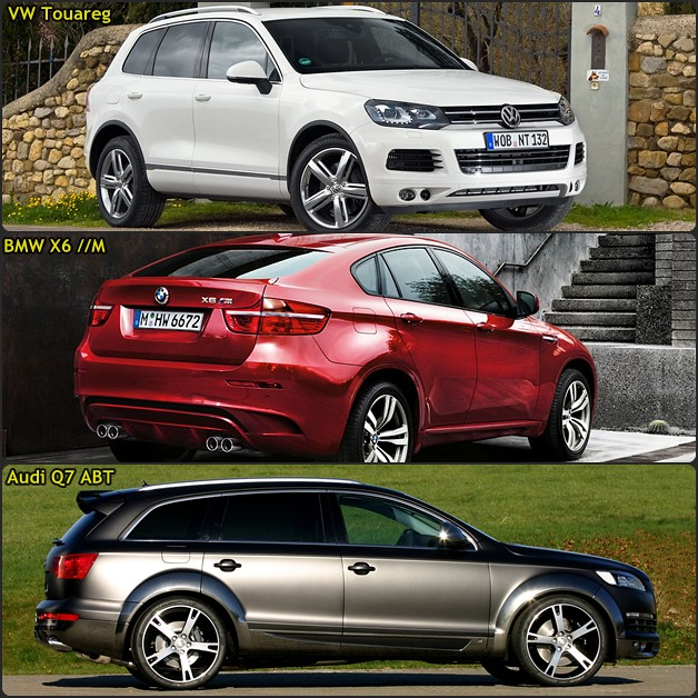 Vw Touareg Bmw X6 M Audi Q7 Abt Which One Would You Love