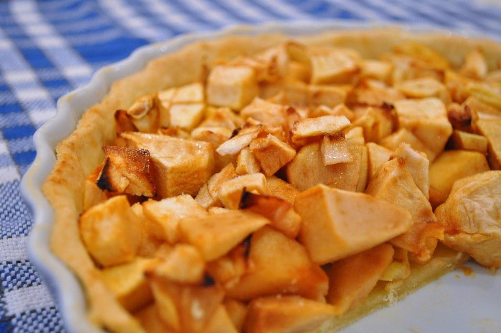 tarte aux pommes une p 226 te bris 233 e faite maison des pommes flickr