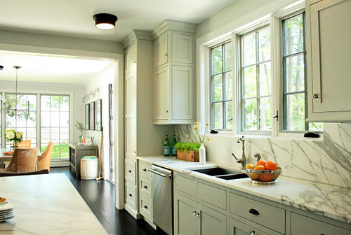 Gray green kitchen cabinets the estate of things flickr for Grey green kitchen cabinets