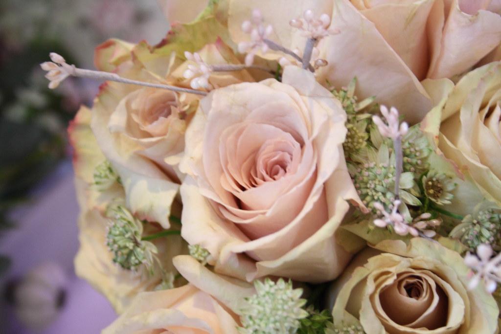 Soft Vintage Pink Rose Bridal bouquet | For more floral ...