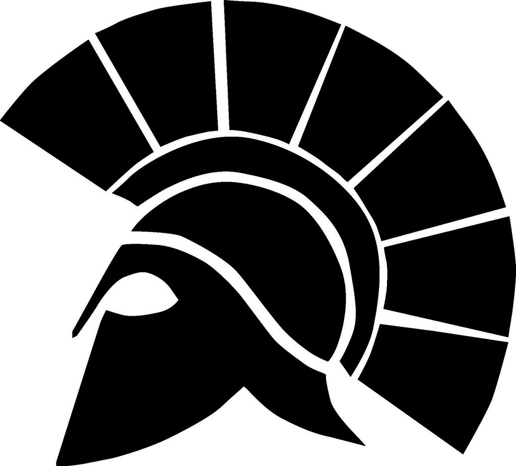 RIO MESA B&W | rio mesa rio black and white spartan logo ...