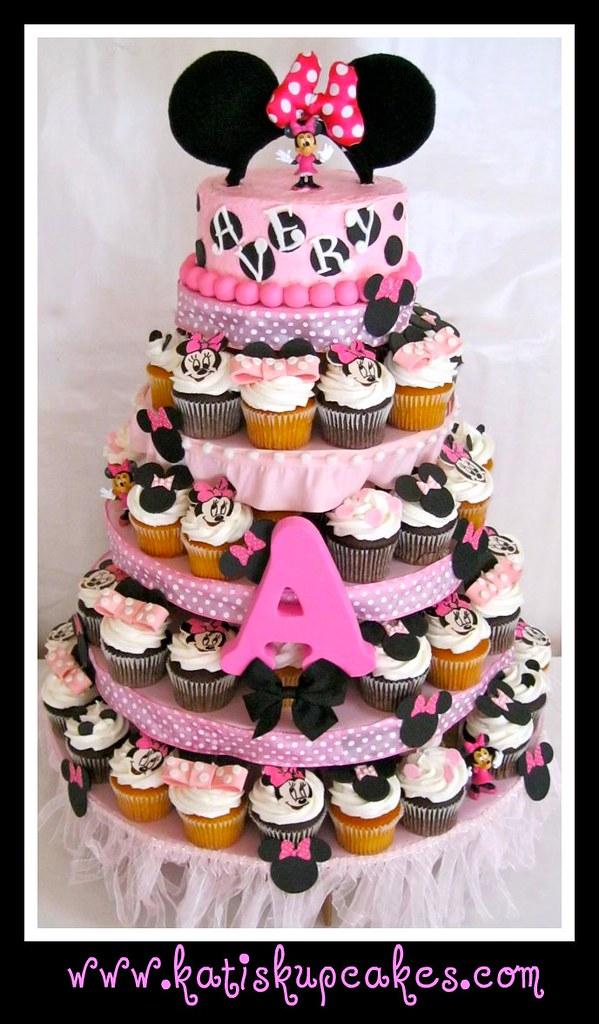 Minnie Mouse Cupcake Tower Jpg Www Katiskupcakes Com