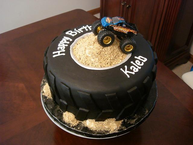 Monster Truck Fondant Cake Topper