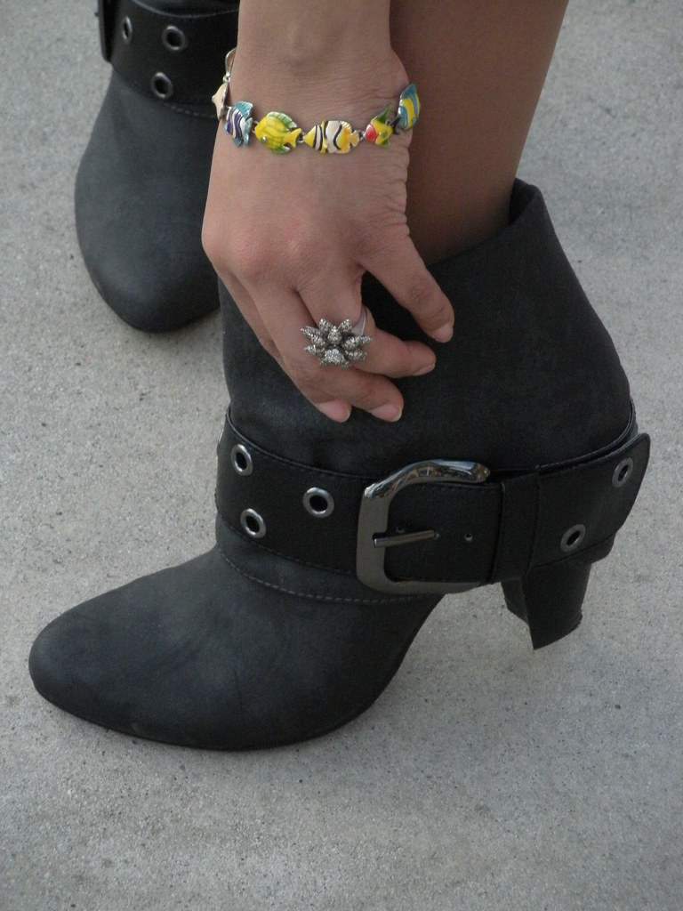 Boots and fish vintage fish bracelet booties and for White fishing boots