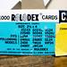 1000 Rolodex Cards