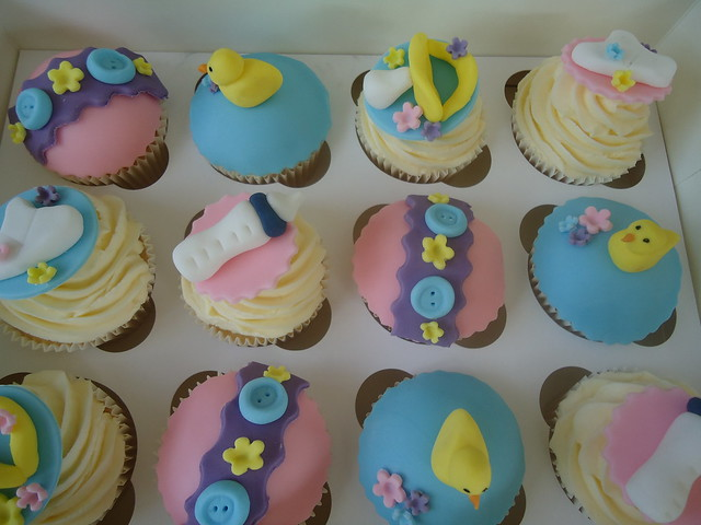 NEW BABY SHOWER CUPCAKES UNISEX New Baby Shower