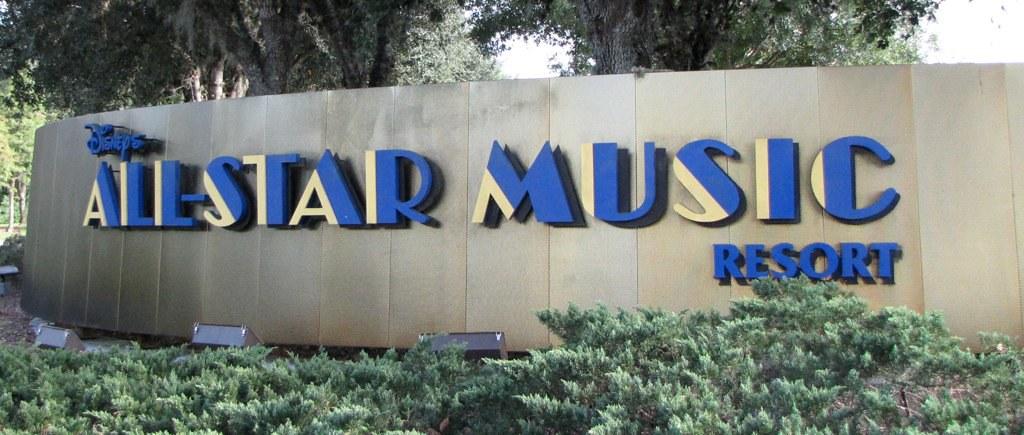 Disney S All Star Music Resort Entrance Sign Disney S