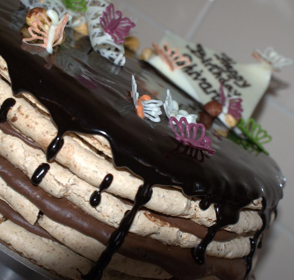Birthday Cake Images With Name Shivani : Shivani s Birthday Cake Hazelnut macaroon and chocolate ...