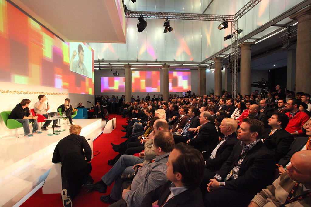 foursquare and groupon founders on stage at dld foursquare flickr. Black Bedroom Furniture Sets. Home Design Ideas
