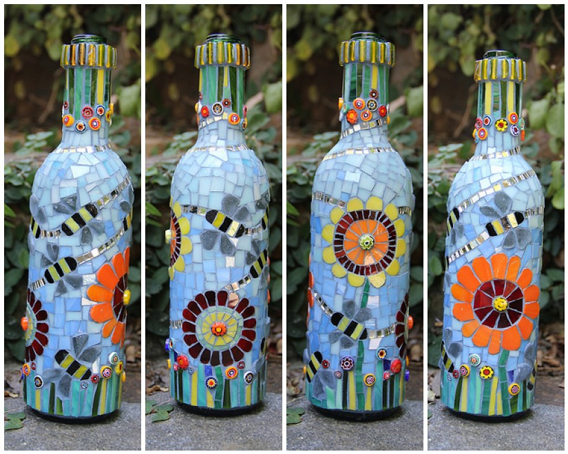 Bee Is For Bottle My First Attempt At A Mosaic Bottle