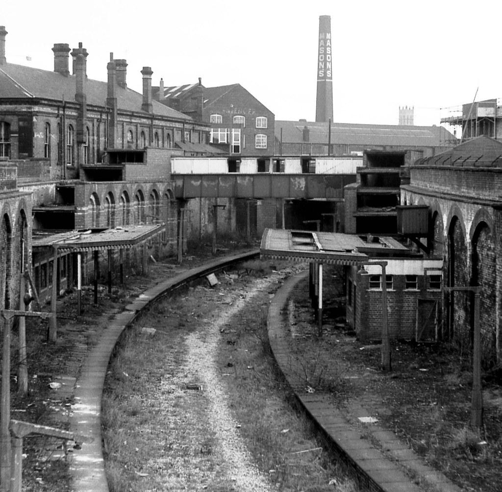 Hanley Station Stoke-on-Trent Staffordshire November 1973