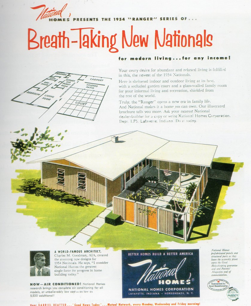 1954 national homes ethan flickr for National house builders