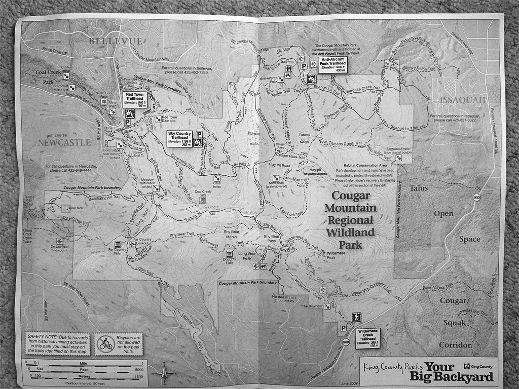 Cougar Mt map An excellent map available free at the trai Flickr