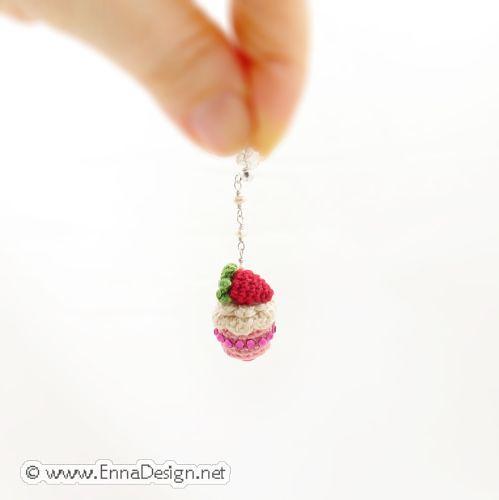 Mini Amigurumi Blog : Micro Mini Amigurumi Cake Earring ER-11-3052 New ...