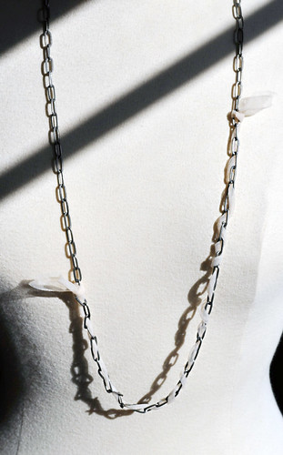 Lanvin necklace DIY + long chain necklace with drop pearls & nude fabric | by ...love Maegan