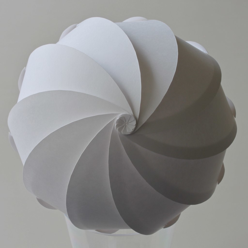 Spherical Spiral, top view | 130 mm diameter paper: t ... - photo#38