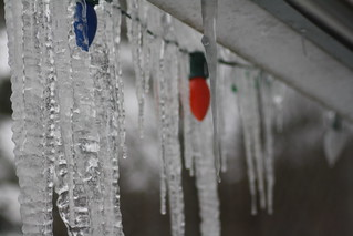 late christmas lights + icicles | by ruth p clark