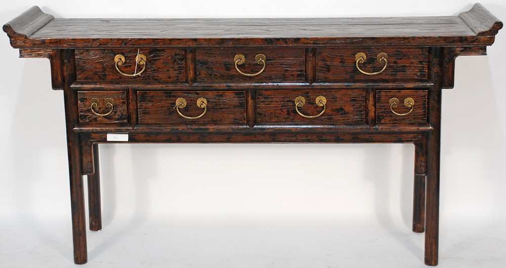 Bk0040y Antique Asian Console Table The Rugged Wood On