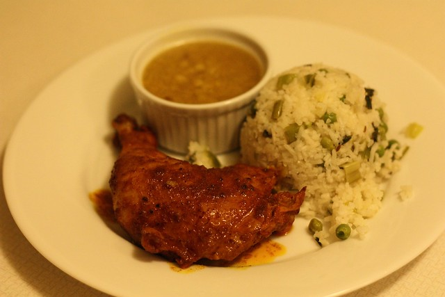Spicy Baked Chicken, Red Lentils, Rice and Peas | Flickr - Photo ...