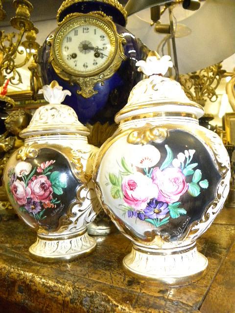 Coppia vasi capodimonte fiori fiamminghi 5 il for Vasi capodimonte