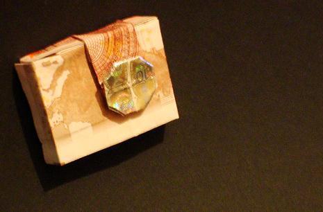 origami geld kamera digital close origami geld digital