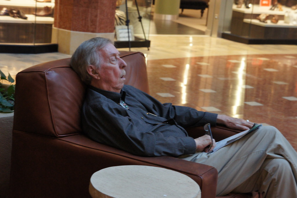 Sleeping Old Man At The Mall Adam Dachis Flickr