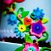 Button Cake detail with Bokeh
