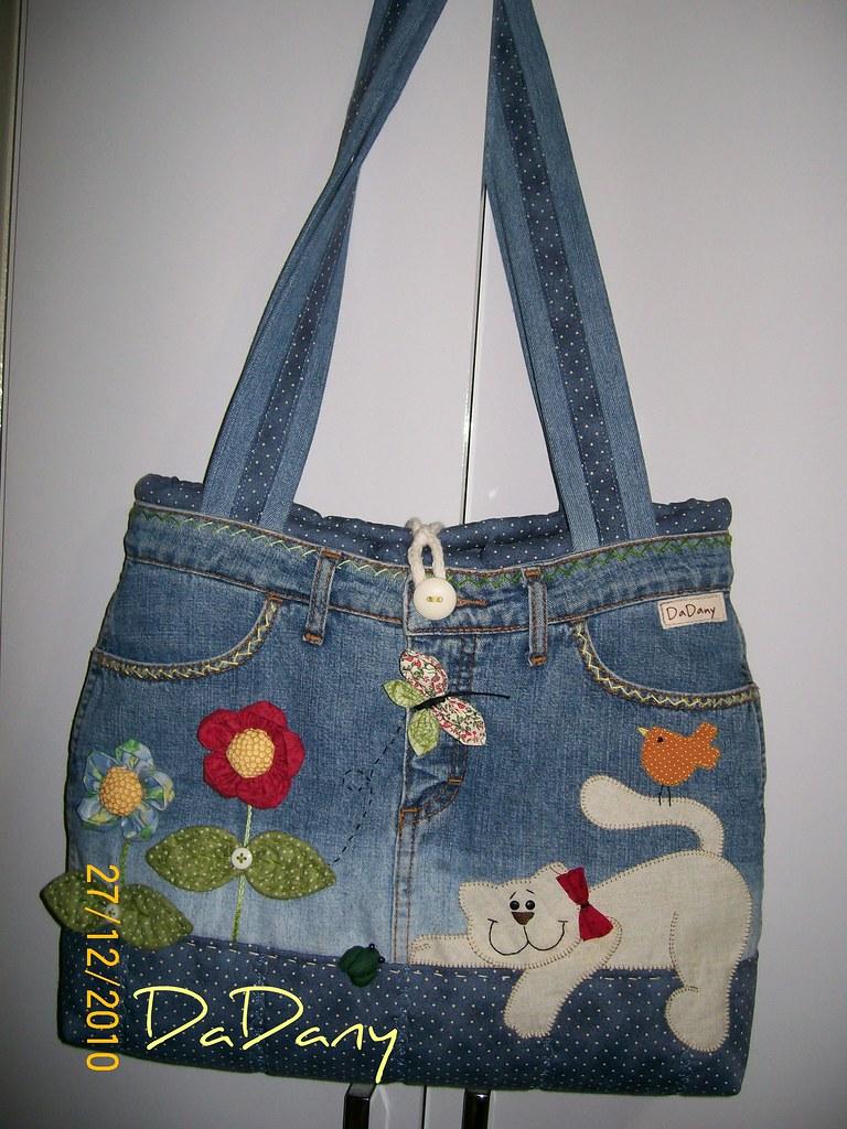 Minha bolsa jeans minha 1 bolsa jeans amei fazer ela flickr - Carteras juveniles ...
