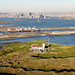 Bayonne Golf and Manhattan Skyline aerial