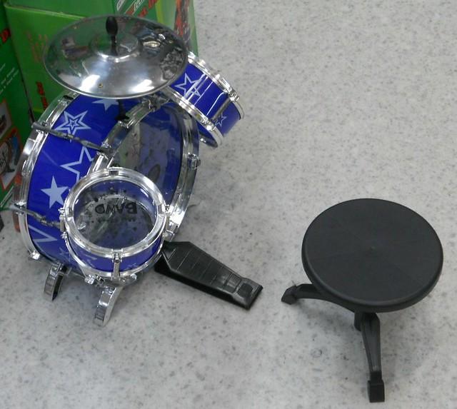 Miniature Drum Kit Cake Topper