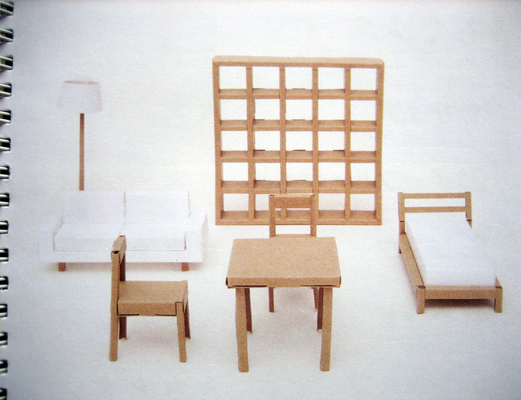 muji book of fold up cardboard furniture this little