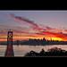 San Francisco from Yerba buena island at sunset