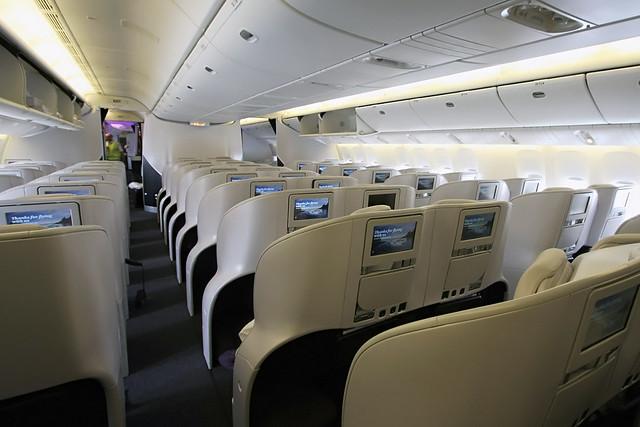 Air New Zealand Boeing 777 300er Premium Economy Cabin