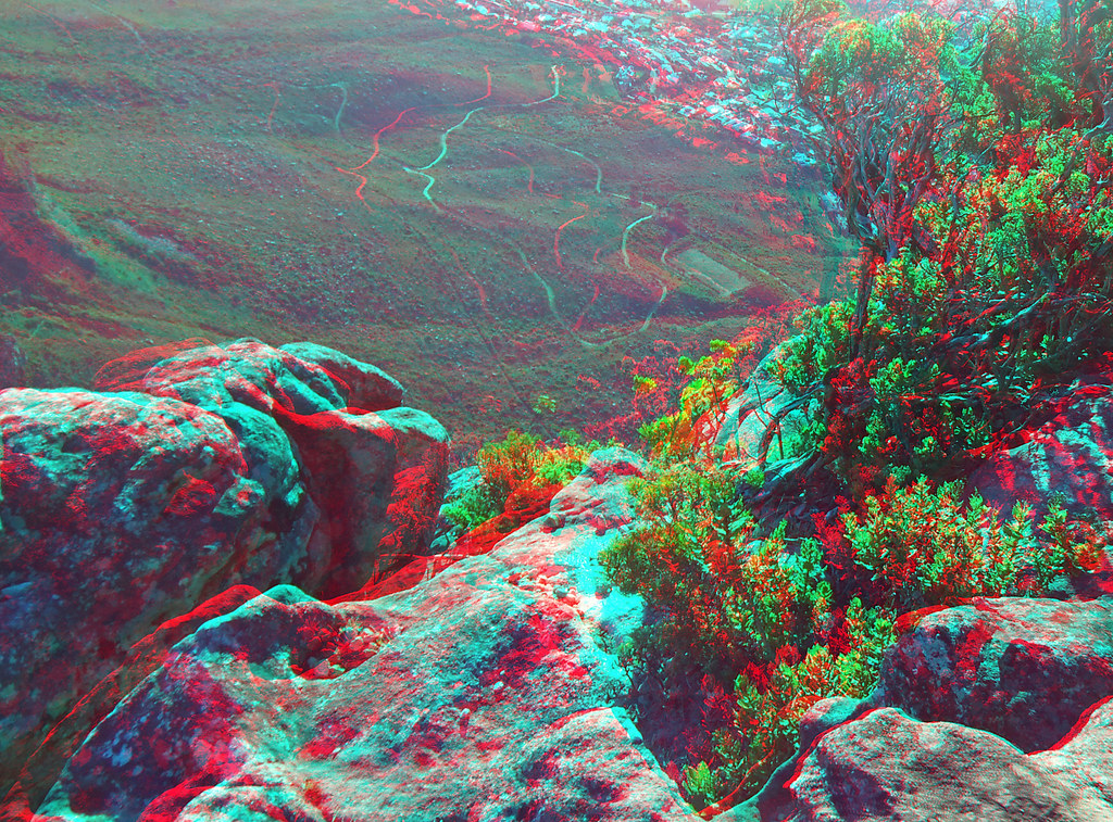 Table Mountain In Anaglyph 3D Red Blue Glasses
