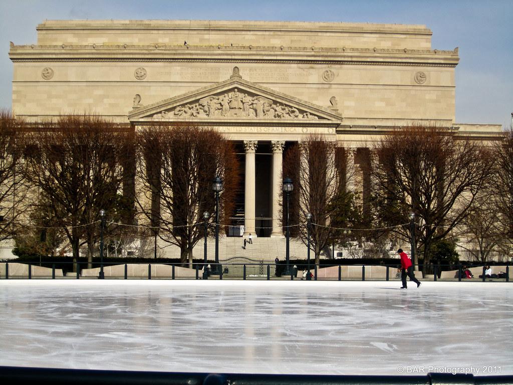 National Gallery Of Art Sculpture Garden Ice Skating Rin Flickr