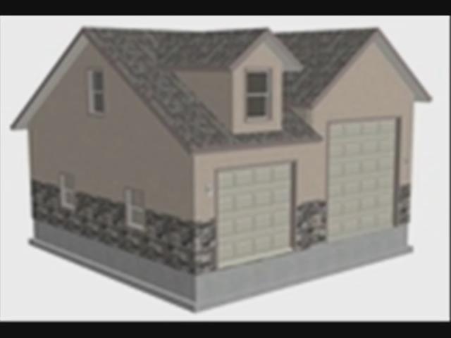 Download-G426 28 X 30 X 14 Detached RV Garage Plans