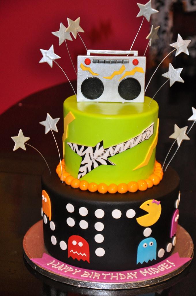 80 S Theme Cake Super Fun Cake To Make She Said Fun