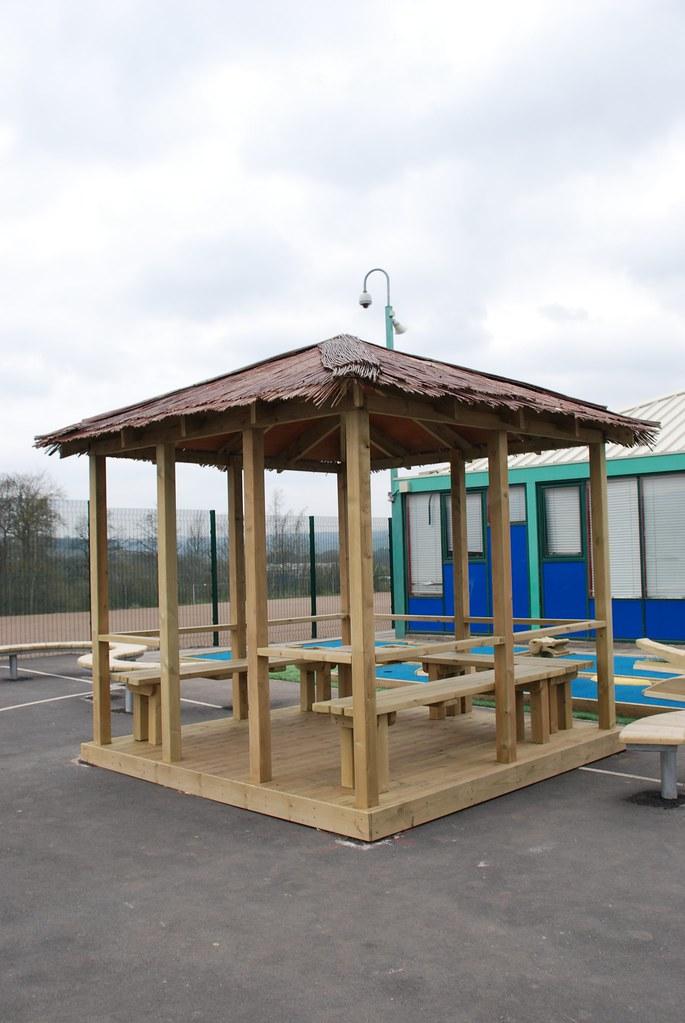 Innovative Outdoor Classroom ~ Beach hut kew outdoor classroom wooden shelter canopy