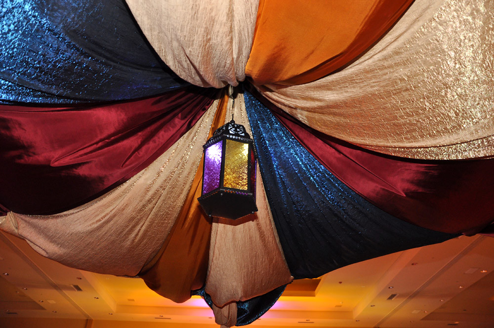 Arabian event tent drape entertainment decor by sixth for Arabian tent decoration