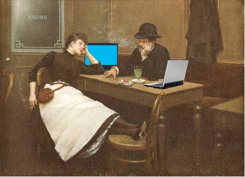 Au Cyber Cafe, after Jean Béraud | by Mike Licht, NotionsCapital.com