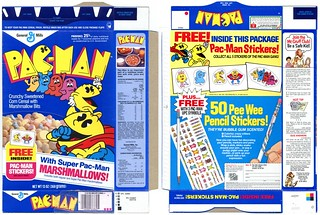 1985 Pac-Man Box Stickers | by bolio88