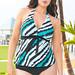 Ravishing Rip Tide Plus Size Halter Tankini by Beach Belle®