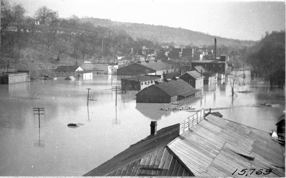 Cumberland River Flood 1939 Burnside Kentucky U S